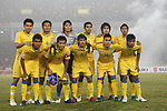 Players of Thailand Team line up and pose for a photo prior to their AFF Suzuki Cup 2008 Final 2nd leg match between Vietnam and Thailand at My Dinh National Stadiumon 28 December 2008, in Hanoi, Vietnam. Photo by Stringer / Lagardere Sports