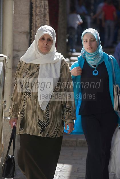 Asie/Israël/Judée/Jérusalem: Femmes musulmanes au souk de Jérusalem