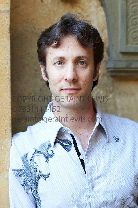 David Eagleman, neuroscientist and writer at The Oxford Literary Festival 2011 in Christchurch,  Oxford UK. CREDIT Geraint Lewis