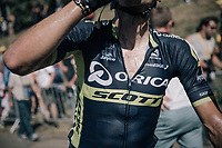 super sweaty Roman Kreuziger (CZE/ORICA-Scott) after the finish<br /> <br /> 104th Tour de France 2017<br /> Stage 5 - Vittel › La Planche des Belles Filles (160km)