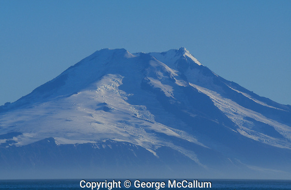 Mount Beerenberg Haakon VII Toppen Volcano, last eruption 1985, Jan Mayen Island, Norwegian sea, Arctic, North Atlantic