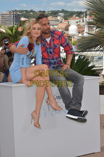 Diane Kruger and Matthias Schoenaerts attend the 'Maryland' / 'Disorder' photocall during the 68th annual Cannes Film Festival on May 16, 2015 in Cannes, France.<br /> CAP/PL<br /> &copy;Phil Loftus/Capital Pictures