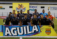 FLORIDABLANCA -COLOMBIA-8-MAYO-2016.Formación  del Envigado FC  durante partido contra Bucaramanga  por la fecha 17 de Liga Águila I 2016 jugado en el estadio Alvaro Gómez Hurtado./ Team  of  Envigado FC  against Bucaramanga during the match for the date 17 of the Aguila League I 2016 played Alvaro Gomez Hurtado . Photo: VizzorImage / Duncan Bustamante / Contribuidor