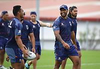 Ligi Sao.<br /> Vodafone Warriors training session. NRL Rugby League. Mt Smart Stadium, Auckland, New Zealand. Thursday 8 February 2018 &copy; Copyright Photo: Andrew Cornaga / www.photosport.nz