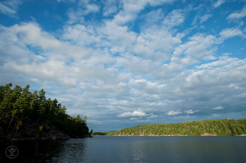 Clouds over Johnny Lake, Killarney Provincial Park, Ontario, Canada.