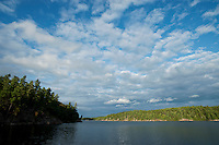 Clouds over Johnny Lake, Killarney Provincial Park, Ontario, Canada.