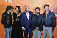 "07 April 2019 - New York, New York - Timothy Olyphant, Zoe Saldana, Chris Butler, Zach Galifianakis and Hugh Jackman at the New York Premiere of ""MISSING LINK"", held at Regal Cinemas Battery Park II. Photo Credit: LJ Fotos/AdMedia"