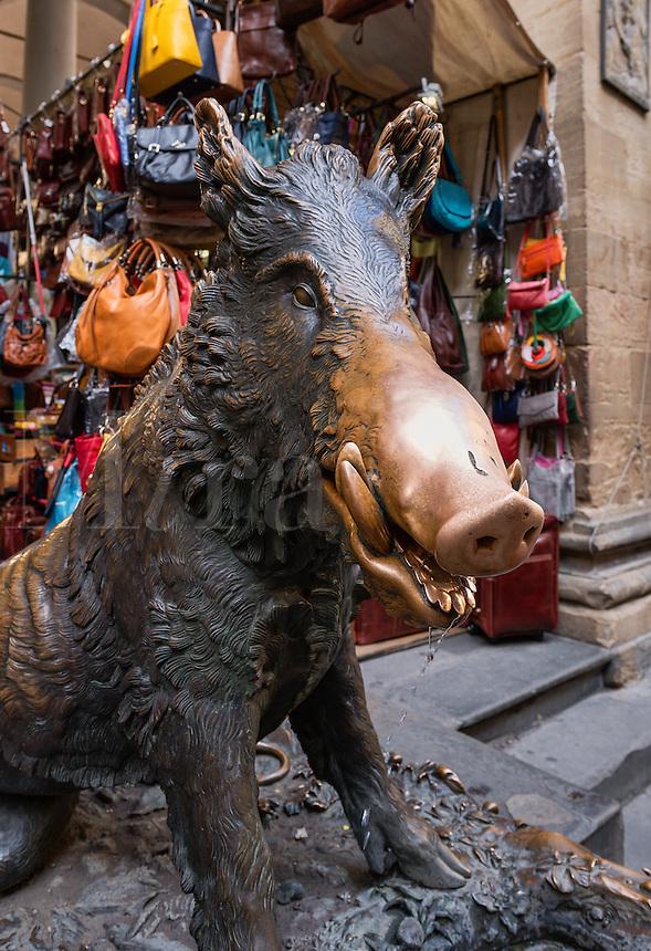 Il Porcellino sculpture at Mercato Nuovo, Florence, Italy