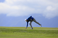Lucas Bjerregaard (DEN) on the 7th green during Thursday's Round 1 of the 2017 Omega European Masters held at Golf Club Crans-Sur-Sierre, Crans Montana, Switzerland. 7th September 2017.<br /> Picture: Eoin Clarke | Golffile<br /> <br /> <br /> All photos usage must carry mandatory copyright credit (&copy; Golffile | Eoin Clarke)