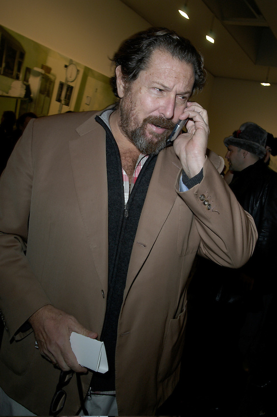 artist Julian Schnabel at the opening the Damien Hirst exhibition at the Gagosian Gallery in New York City, 2005