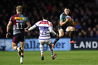 Mike Brown of Harlequins claims the ball in the air. Gallagher Premiership match, between Harlequins and Leicester Tigers on May 3, 2019 at the Twickenham Stoop in London, England. Photo by: Patrick Khachfe / JMP