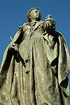 Close up of statue of Queen Victoria in Victoria Square Birmingham England