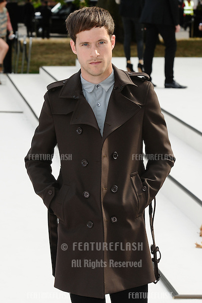 Sam Fry arriving for the Burberry Prorsum catwalk show as part of London Fashion Week SS13, Kensington Gardens, London. 17/09/2012 Picture by: Steve Vas / Featureflash