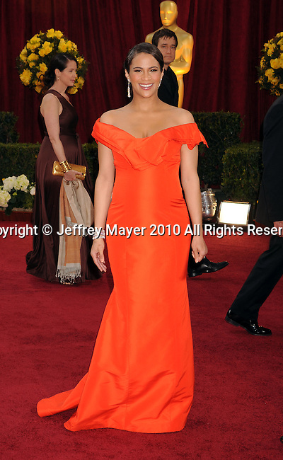 HOLLYWOOD, CA. - March 07: Paula Patton  arrives at the 82nd Annual Academy Awards held at the Kodak Theatre on March 7, 2010 in Hollywood, California.