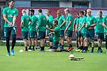 05.07.2019, Parkstadion, Zell am Ziller, AUT, TL Werder Bremen - Tag 01<br /> <br /> im Bild / picture shows <br /> <br /> Niclas Füllkrug / Fuellkrug (Neuzugang Werder Bremen #11) # Dehnuebung mit der Mannnschaft<br /> <br /> <br /> <br /> Foto © nordphoto / Kokenge