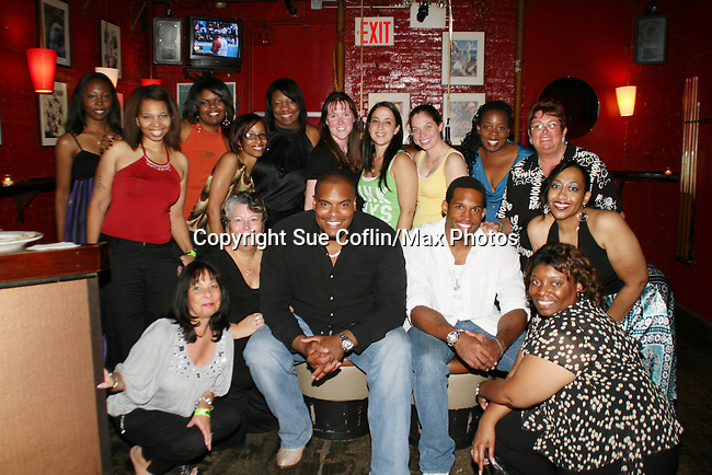OLTL's Sean Ringgold fan Gathering at Prohibition, NYC on Aug 14, 2008. Auctioned off item for a benefit. GL's Lawrence Saint-Victor came by as his special gues. (Photo by Sue Coflin/Max Photo)