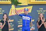 Polka Dot Jersey Julian Alaphilippe (FRA) Quick-Step Floors wins Stage 15 of the 2018 Tour de France running 218km from Carcassonne to Bagneres-de-Luchon, France. 24th July 2018. <br /> Picture: ASO/Pauline Ballet | Cyclefile<br /> All photos usage must carry mandatory copyright credit (© Cyclefile | ASO/Pauline Ballet)