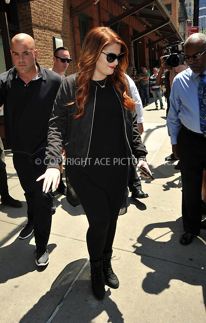 www.acepixs.com<br /> <br /> June 24 2016, New York City<br /> <br /> Singer Meghan Trainor signs autographs for fans as she leaves a downtown hotel on June 24 2016 in New York City<br /> <br /> By Line: Curtis Means/ACE Pictures<br /> <br /> <br /> ACE Pictures Inc<br /> Tel: 6467670430<br /> Email: info@acepixs.com<br /> www.acepixs.com
