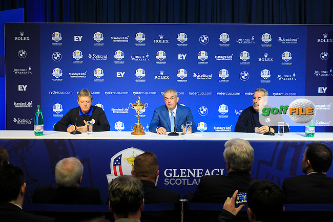 Ryder Cup press conference by European Captain Paul McGinley to announce 2 of his Vice Captains, Des Smyth (IRL) and Sam Torrence (SCO) held in Government Buildings, Dublin Ireland. 6th March   2014.<br /> Picture: Eoin Clarke www.golffile.ie