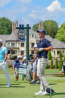 Adam Scott (AUS) watches his tee shot on 8 during Saturday's round 3 of the PGA Championship at the Quail Hollow Club in Charlotte, North Carolina. 8/12/2017.<br /> Picture: Golffile | Ken Murray<br /> <br /> <br /> All photo usage must carry mandatory copyright credit (&copy; Golffile | Ken Murray)