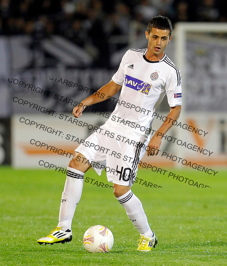 Milos Ostojic UEFA Europa League, Group stage, FK Partizan - Neftci FK, .Belgrade, Serbia, Thursday, September 20, 2012. (credit & photo: Pedja Milosavljevic / +381 64 1260 959 / thepedja@gmail.com)