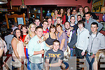 John Coffey from Garrai? Glas pictured seated front celebrated his 21st birthday with friends in Frank's Corner Cahersiveen on Saturday night.