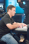 Devin Porter's expressions before playing the hand and while the cards are being dealt...Devin Porter has the button and moves all in.  Stan Weiss calls and shows Ah-Qd.  Porter flips over 6s-6d.  The board comes Jd-4c-3d-9c-3c and Devin Porter has doubled u