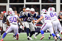 Sunday, October 2, 2016: New England Patriots outside linebacker Jonathan Freeny (55) in game action during the NFL game between the Buffalo Bills and the New England Patriots held at Gillette Stadium in Foxborough Massachusetts. Buffalo defeats New England 16-0. Eric Canha/Cal Sport Media