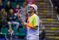 Rotterdam, Netherlands, December 16, 2017, Topsportcentrum, Ned. Loterij NK Tennis, Semifinal men, Boy Westerhof (NED)<br /> Photo: Tennisimages/Henk Koster
