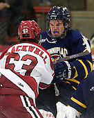Colin Blackwell (Harvard - 63), Mike Dalhuisen (Quinnipiac - 2) - The Harvard University Crimson and Quinnipiac University Bobcats played to a 2-2 tie on Saturday, November 5, 2011, at Bright Hockey Center in Cambridge, Massachusetts.