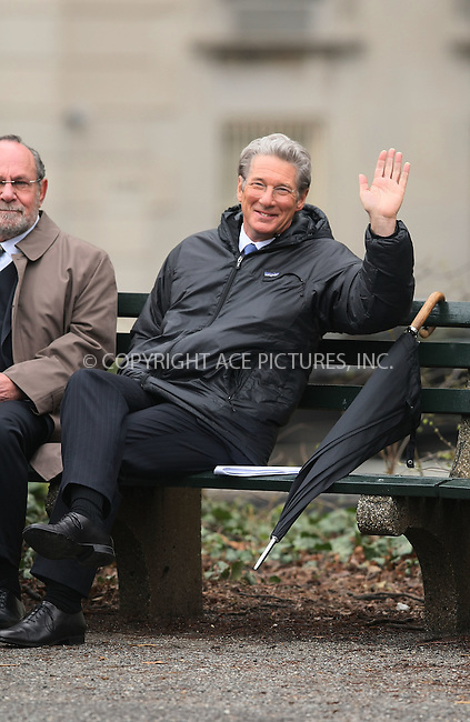 WWW.ACEPIXS.COM . . . . .  ....April 13 2011, New York City....Actor Richard Gere (R) on the Central Park set of his new movie Arbitrage on April 13 2011 in New York City....Please byline: PHILIP VAUGHAN - ACE PICTURES.... *** ***..Ace Pictures, Inc:  ..Philip Vaughan (212) 243-8787 or (646) 679 0430..e-mail: info@acepixs.com..web: http://www.acepixs.com