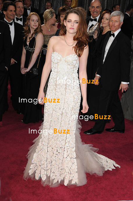 Kristen Stewart arriving for the 85th Academy Awards at the Dolby Theatre, Los Angeles.