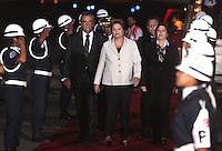 LIMA,PER&Uacute;-18/04/2013 Arribo del Presidente de Brasil, Dilma Rousseff, para la reuni&oacute;n UNASUR en Palacio de Gobierno. <br /> &copy; ANDINA//Oscar Farje/NortePhoto