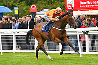 Winner of The Molson Coors Handicap Eye of The Water ridden by David Probert and trained by Ronal Harris during Evening Racing at Salisbury Racecourse on 11th June 2019