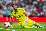 Goalkeeper Francisco Casilla Cortes, Kiko Casilla, of Real Madrid reacts during the Santiago Bernabeu Trophy 2017 match between Real Madrid and ACF Fiorentina at the Santiago Bernabeu Stadium on 23 August 2017 in Madrid, Spain. Photo by Diego Gonzalez / Power Sport Images