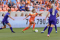 Rachel Daly (3) of the Houston Dash races down the field against the Orlando Pride on Friday, May 20, 2016 at BBVA Compass Stadium in Houston Texas. The Orlando Pride defeated the Houston Dash 1-0.