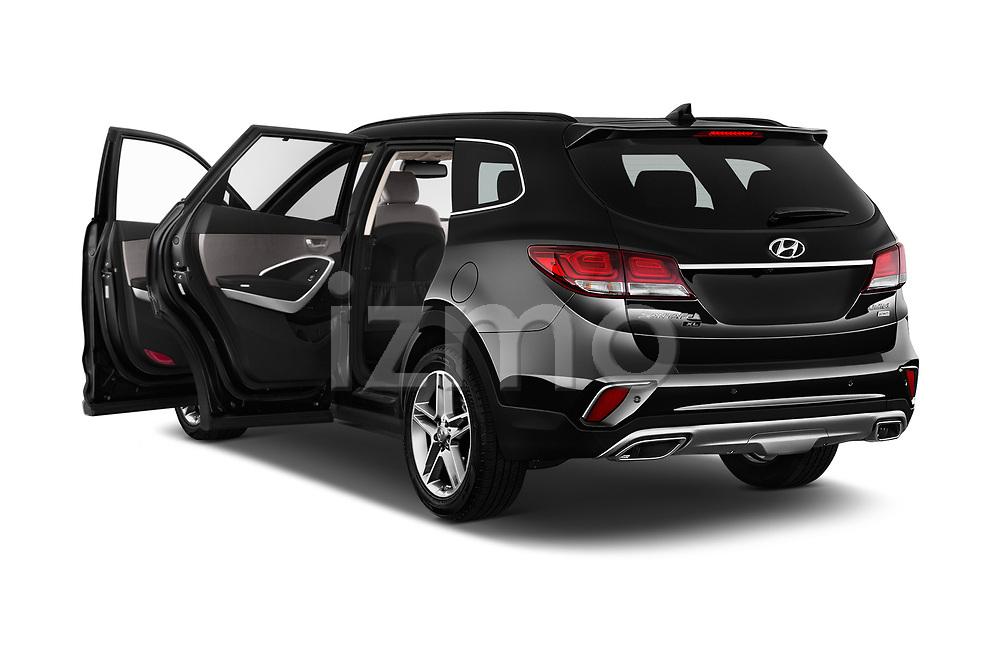 Car images close up view of a 2019 Hyundai Santa FE XL Limited Ultimate 5 Door SUV doors