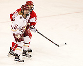 Delaney Belinskas (BC - 17), Connor Galway (BU - 26) - The Boston College Eagles defeated the visiting Boston University Terriers 5-3 (EN) on Friday, November 4, 2016, at Kelley Rink in Conte Forum in Chestnut Hill, Massachusetts.The Boston College Eagles defeated the visiting Boston University Terriers 5-3 (EN) on Friday, November 4, 2016, at Kelley Rink in Conte Forum in Chestnut Hill, Massachusetts.