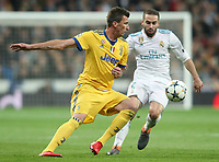 Real Madrid's Daniel Carvajal (r) and Juventus Football Club's Mario Mandzukic during Champions League Quarter-Finals 2nd leg match. April 11,2018. (ALTERPHOTOS/Acero) /NortePhoto.com