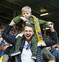 Leeds United fans cheer their team<br /> <br /> Photographer Alex Dodd/CameraSport<br /> <br /> The EFL Sky Bet Championship - Leeds United v Bolton Wanderers - Saturday 23rd February 2019 - Elland Road - Leeds<br /> <br /> World Copyright © 2019 CameraSport. All rights reserved. 43 Linden Ave. Countesthorpe. Leicester. England. LE8 5PG - Tel: +44 (0) 116 277 4147 - admin@camerasport.com - www.camerasport.com
