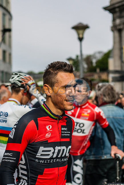 Philippe Gilbert (BEL,BMC) before the start, Liège, Belgium, 27 April 2014, Photo by Pim Nijland / www.pelotonphotos.com