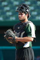 South Bend Silver Hawks catcher Roidany Aguila #24 during practice before a Midwest League game against the West Michigan Whitecaps at Coveleski Stadium on August 15, 2012 in South Bend, Indiana.  West Michigan defeated South bend 7-1.  (Mike Janes/Four Seam Images)