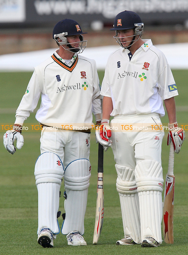 Grant Flower (left) and Tom Westley of Essex - Essex CCC vs Worcestershire CCC - Friendly Match at Ford County Ground, Chelmsford - 09/04/08 - MANDATORY CREDIT: Gavin Ellis/TGSPHOTO. Self-Billing applies where appropriate. NO UNPAID USE. Tel: 0845 094 6026
