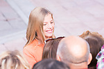 Infant Sofia of Spain during the arrival to Oviedo because of the Princess of Asturias Awards 2019 . October 17, 2019.. (ALTERPHOTOS/ Francis Gonzalez)