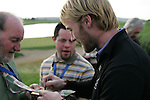 Singer Ronan Keating signs autographs after the final round singles of the Seve Trophy at The Heritage Golf Resort, Killenard,Co.Laois, Ireland 30th September 2007 (Photo by Eoin Clarke/GOLFFILE)