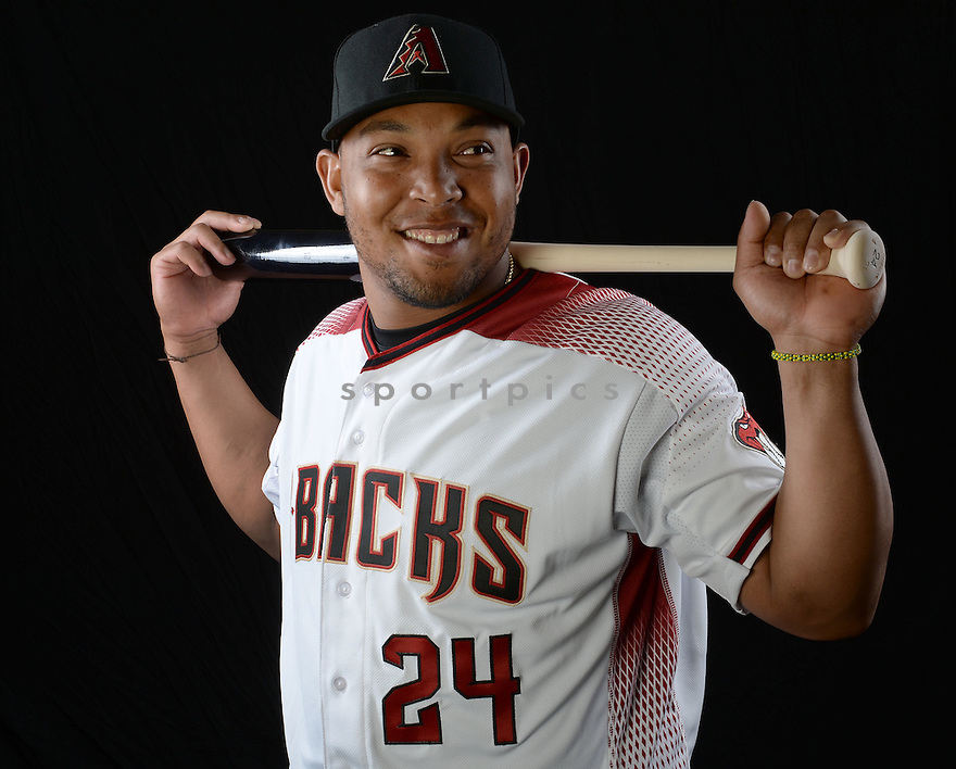 Arizona Diamondbacks Yasmany Tomas (24) during photo day on February 28, 2016 in Scottsdale, AZ.