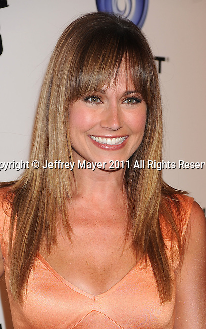 """LOS ANGELES, CA - OCTOBER 04: Nikki DeLoach arrives at the launch of """"Just Dance 3"""" at The Beverly on October 4, 2011 in Los Angeles, California."""