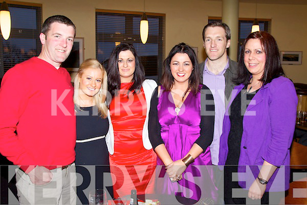 David Leahy, Aileen Leahy, Michelle Dowling, Martina Dowling Moegan O'Shea and Lisa Barrett pictured at the Sporting Legends night in aid of the Paul Curran Trust at the Ballyroe Heights Hotel on Sunday night..
