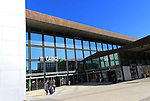 Railway train station building exterior Cadiz, Spain