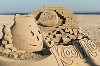 Beach, Sand, Sandcastles, Sculpture Sandsculpture,  Long Beach, CA,